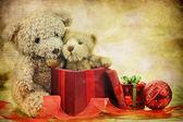 Teddy Bear Christmas — Stock Photo