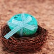 Blue Speckled Easter Egg — Stock Photo