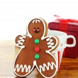 Royalty-Free Stock Photo: Gingerbread Man Cookie