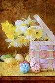 Easter Floral Arrangement — Stock Photo