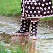 Rainboots and Mud Puddles — Stock Photo