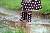 Rainboots and Mud Puddles — Stock Photo