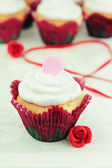 Valentine's Day Cupcakes — Stock Photo