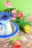 Vase and Tulips — Stock Photo