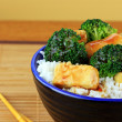 Stir Fried Tofu and Broccoli — Stock Photo #5052313