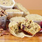 Oatmeal Cranberry Muffins — Stock Photo