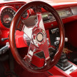 Vintage sports car interior — Stock Photo #4535606