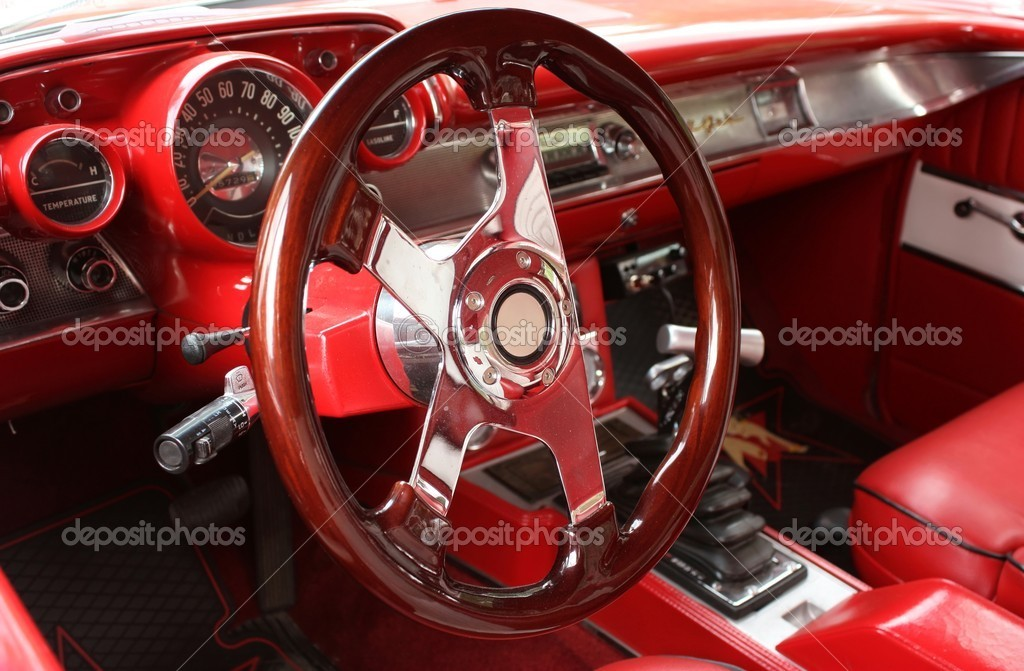 Vintage sports car interior — Stock Photo © ziggysofi 4535606