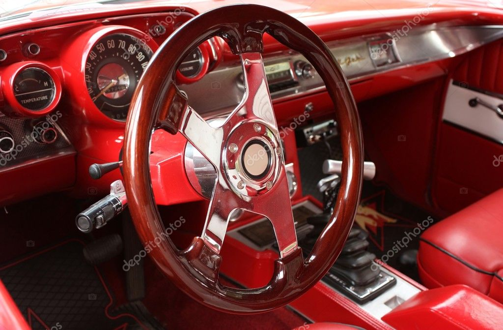 vintage sports car interior stock photo ziggysofi 4535606. Black Bedroom Furniture Sets. Home Design Ideas