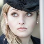 Beautiful lady wearing hat — Stock Photo #4316438
