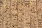 Hieroghlyphs in Karnak temple — Stockfoto