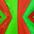 Stock Photo: Christmas Colored Wooden Fence Board Background