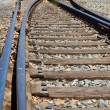 Old Railroad Tracks at a Junction on a Sunny Day — Stock Photo
