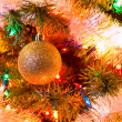 Christmas Tree Holiday Ornaments Hanging on a Tree — Foto Stock