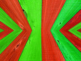 Christmas Colored Wooden Fence Board Background — Stock Photo