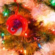 Christmas Tree Holiday Ornaments Hanging on a Tree — Stock Photo
