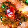 Christmas Tree Holiday Ornaments Hanging on Tree — Stock Photo #3940072