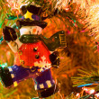 Christmas Tree Holiday Ornaments Hanging on a Tree — ストック写真