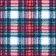 Full Frame Background of Red and Blue Plaid Fabric — Stockfoto