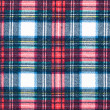 Full Frame Background of Red and Blue Plaid Fabric — Stock fotografie
