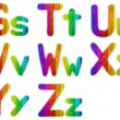 Letters S T U V W X Y Z with Wooden Rainbow Background — Stock Photo #4581259