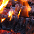 Background of Flames and Glowing Embers in a Campfire — Stock Photo #4581658