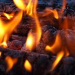 Background of Flames and Glowing Embers in a Campfire — Stock Photo #4581666