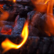 Background of Flames and Glowing Embers in a Campfire — Stock Photo #4581673