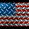 Stock Photo: AmericFlag On Diamond Metal Texture