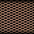 Rusted metal grate securing a tunnel hole — Stock Photo #4953303