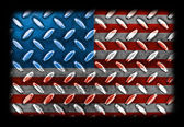 American Flag On a Diamond Metal Texture — Stock Photo