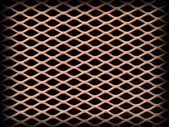 Rusted metal grate securing a tunnel hole — Stockfoto