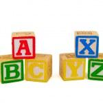 Alphabet Blocks Isolated on a White Background — Stock Photo