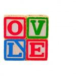 Colorful Alphabet Blocks LOVE — Stock Photo