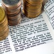 Stock Photo: Bible Verse Love of Money