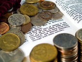 Bible Verse Love of Money — Stock Photo