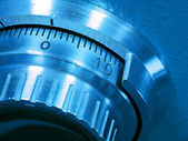 Closeup of a Safe Vault Combination Spinner — Stock Photo