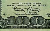 Macro Money Detail 100 Dollars — Stock Photo