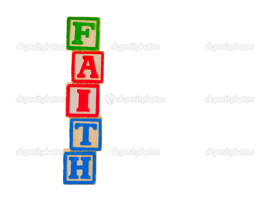 Colorful Alphabet Blocks Spelling the Word FAITH — Stock Photo #5101541