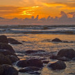 Stock Photo: Sunset at the Beach on the Oregon Coast
