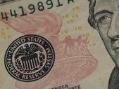 The US 10 Dollar Bill Showing Seal and Torch — Stock Photo