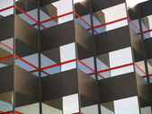 Fond d'un miroir et noir en mosaïque de bâtiment — Photo