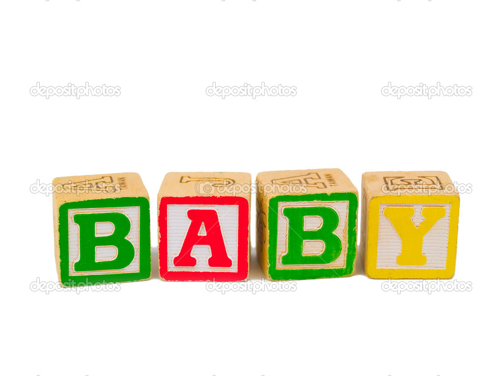 Colorful Alphabet Blocks Spelling the Word BABY   Stock Photo #5178659
