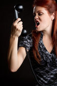 Angry Phone Woman — Stockfoto