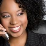 telefon kadın — Stok fotoğraf