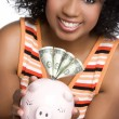 Foto Stock: Money Woman