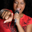 African American Singer — Stock Photo #4001833