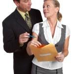 Businessman and Businesswoman — Stock Photo