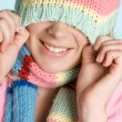 Winter Hat Girl - Stockfoto