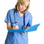 Nurse Taking Notes — Stock Photo